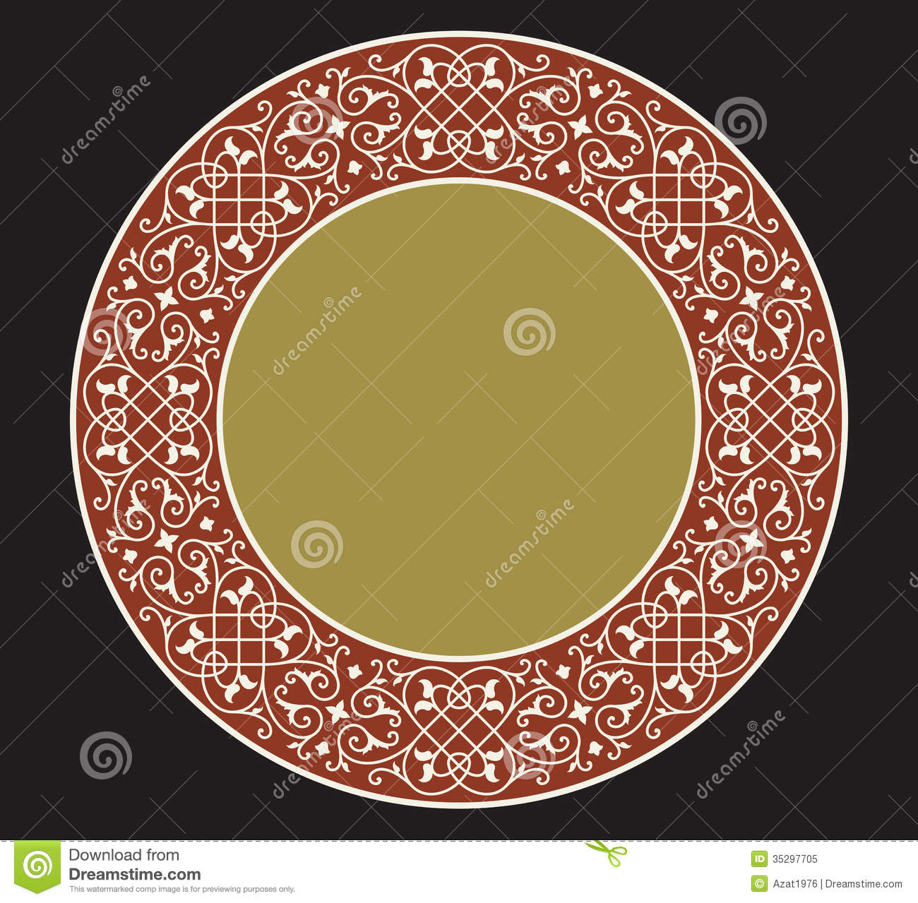 Milan Saucer Ornament Two Royalty Free Stock Photo - Image: 35297705