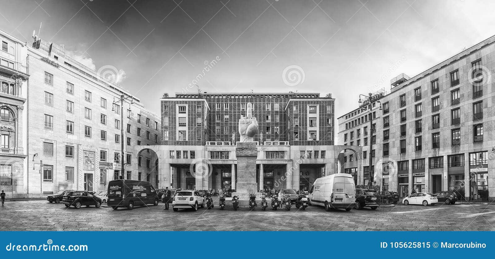 16c99ac7cc MILAN - SEPTEMBER 11: Panoramic view of Piazza Affari (in english: Business  Square), Milan, Italy, on September 11, 2017