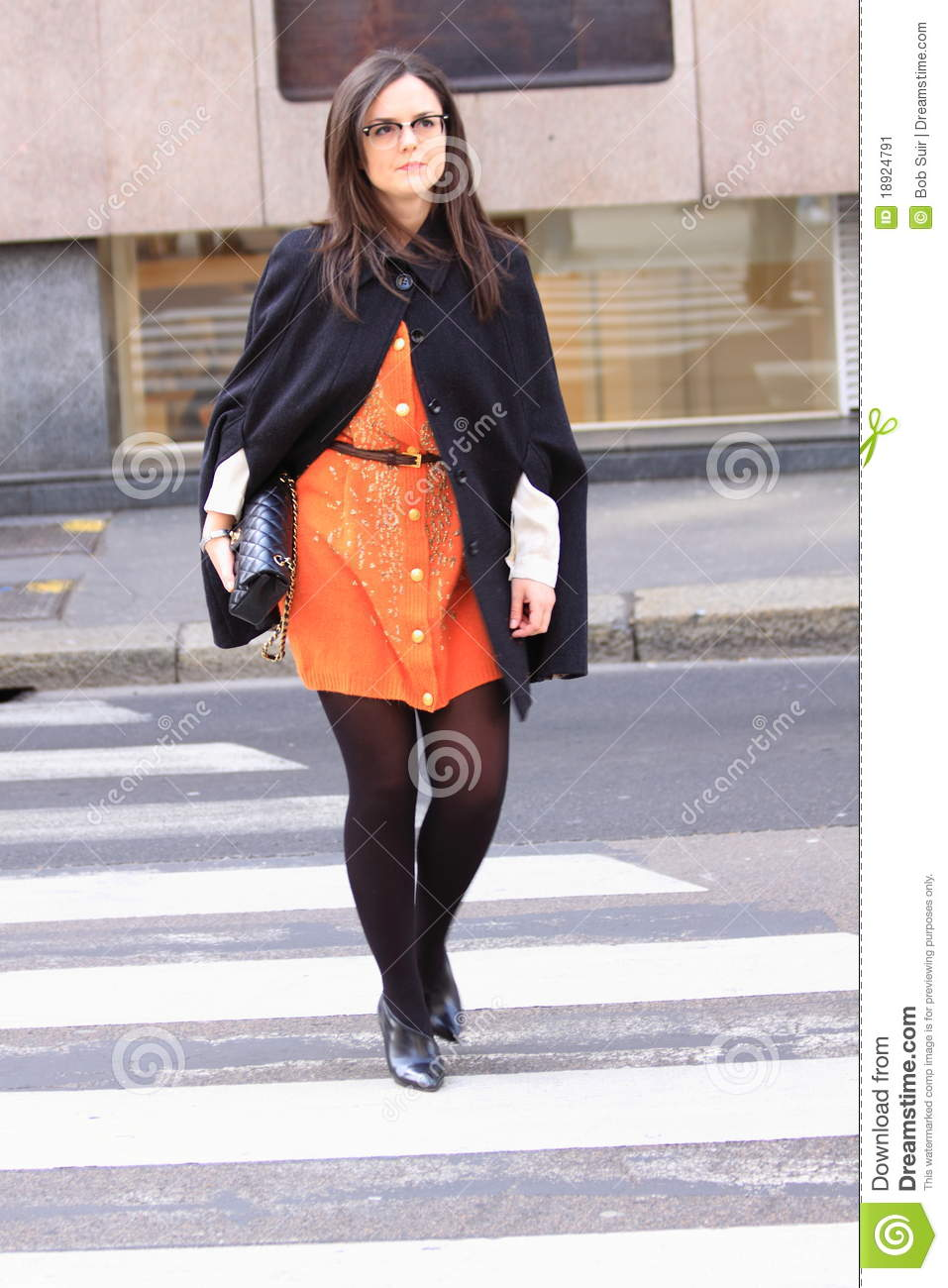 Milan Street Town Fashion Editorial Photo Image 18924791
