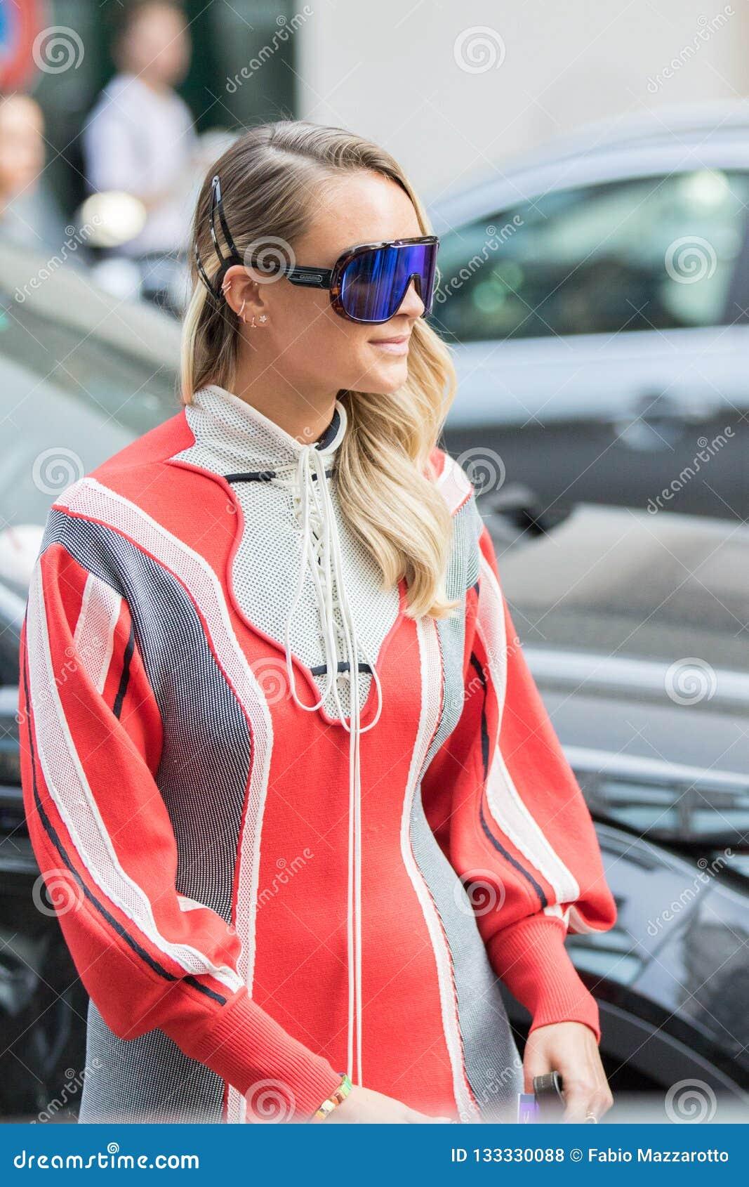 new product c7694 c9cf5 Milan Woman Fashion Week 2018 Editorial Stock Photo - Image ...