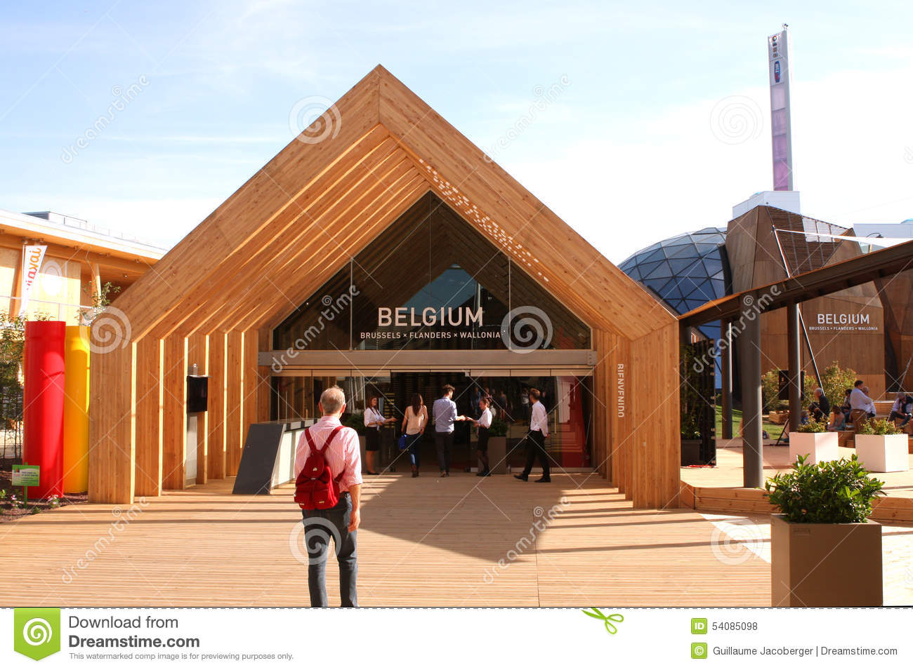 Expo Stand Belgio : Expo milano belgium editorial stock photo image of