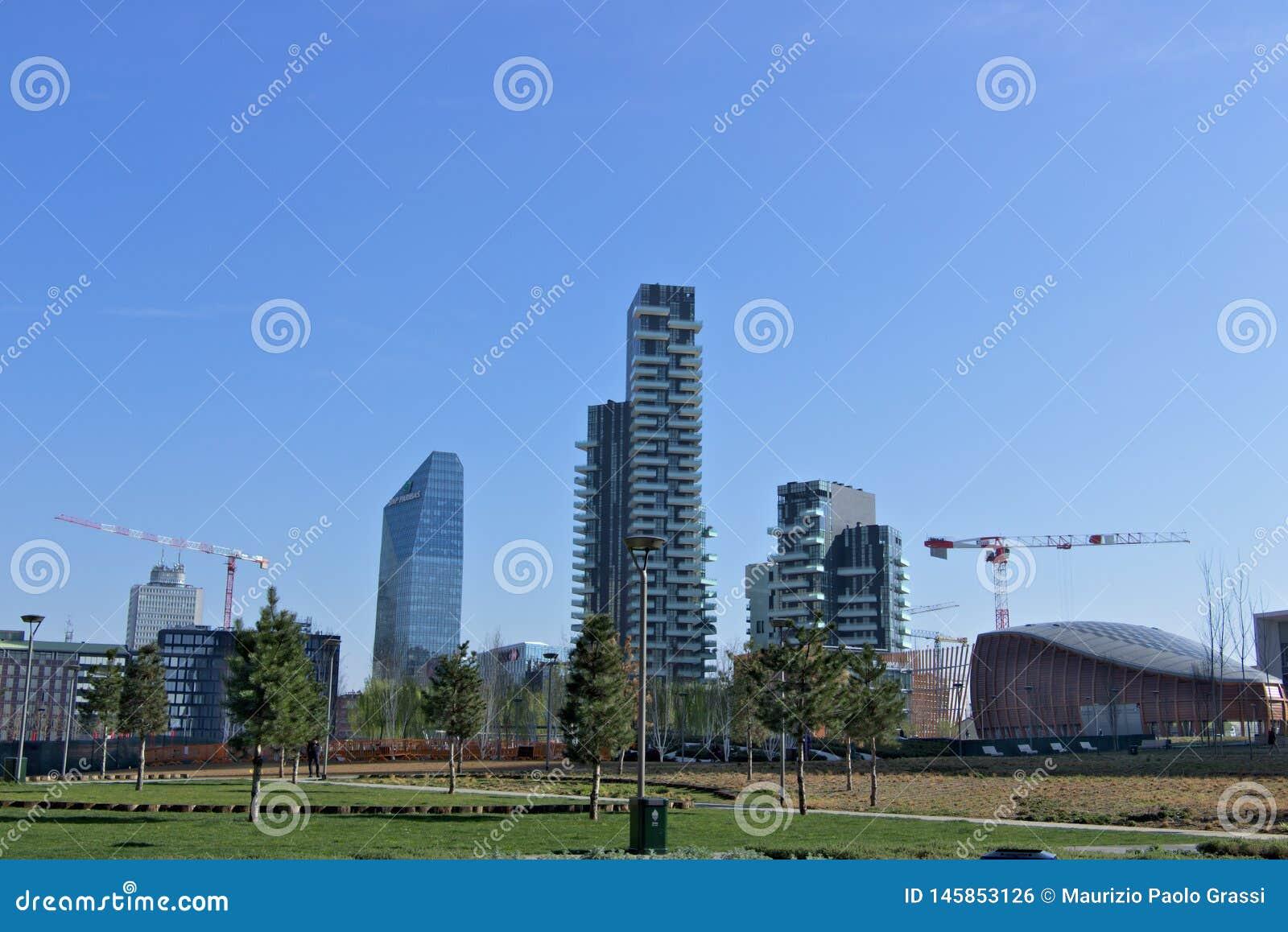 Milano, Italia 21 marzo 2019 Complesso residenziale dei solarium di Torre, dell aria di Torre e del Solea di Torre