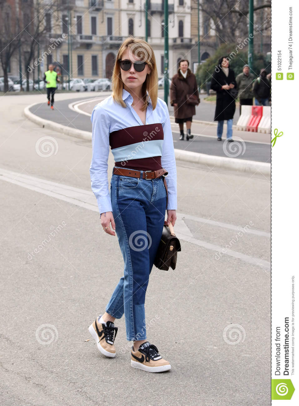 Annabell Rosendahl Milano Milan Fashion Week Streetstyle Autumn Winter 2015 2016 Editorial Stock
