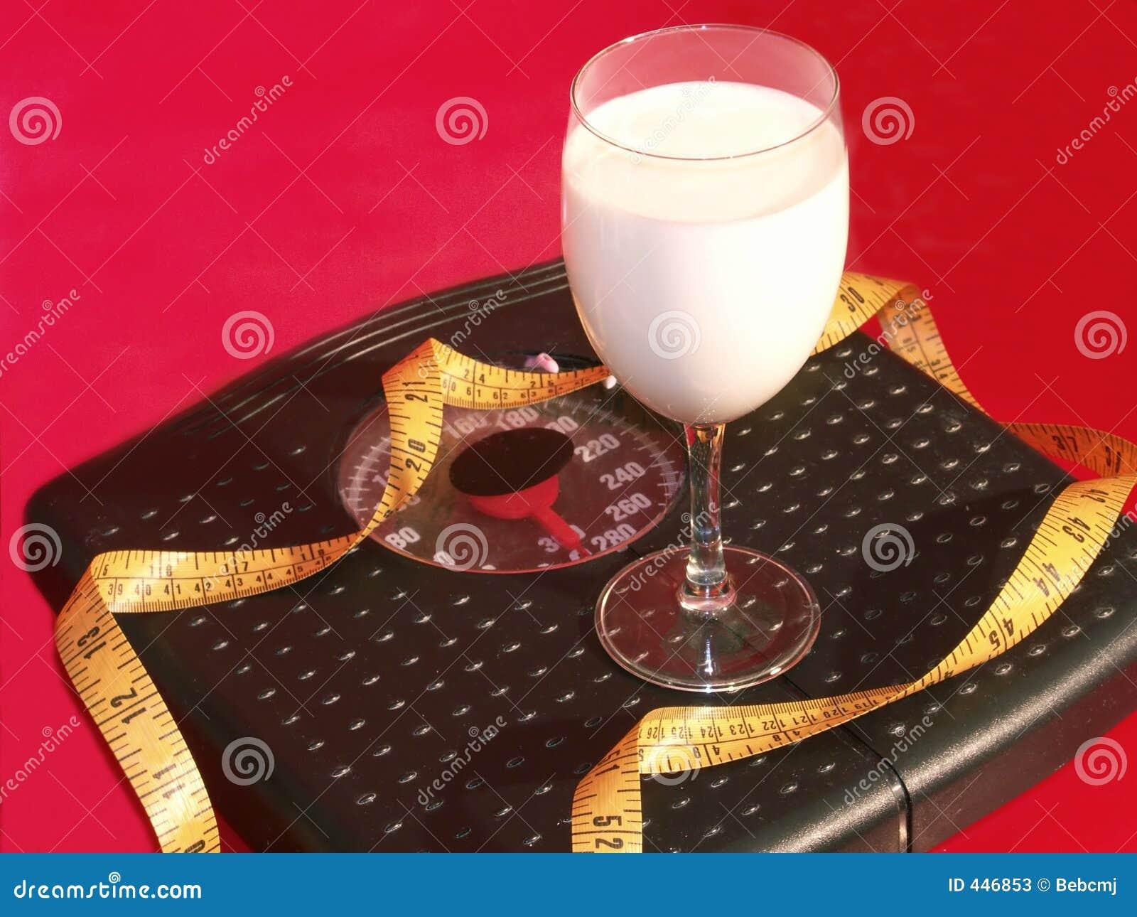 Milch auf einer Diät