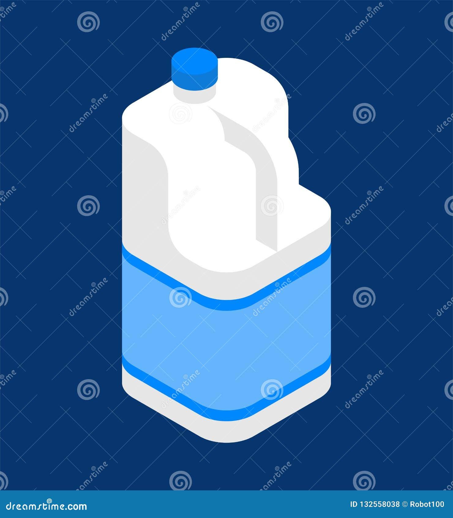Milch-Gallone isometrisch Plastikflasche getrennt Vektor illustra