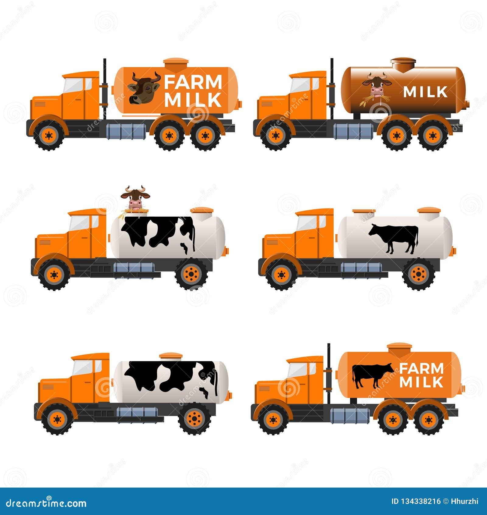 Milchbehälter-LKWs