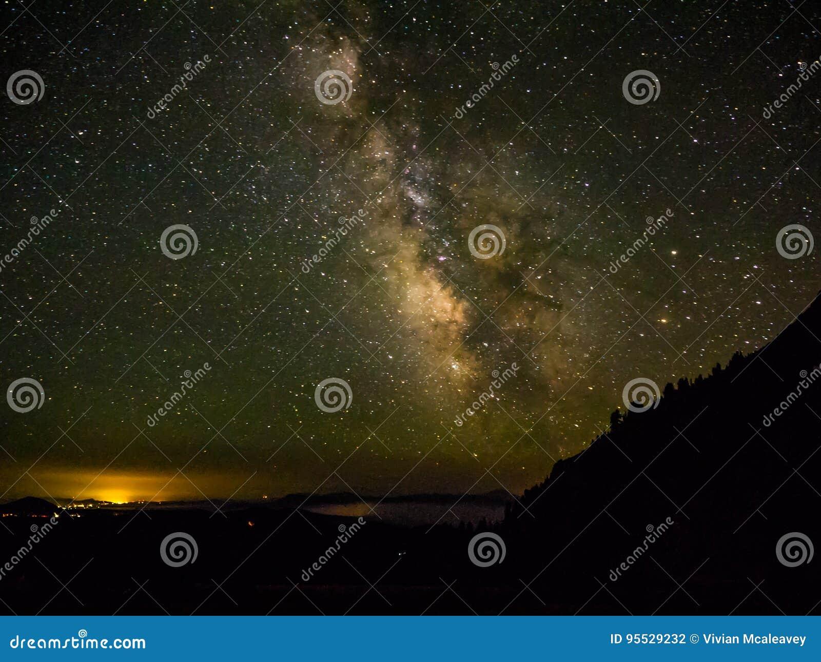 Milchstraße und Sterne