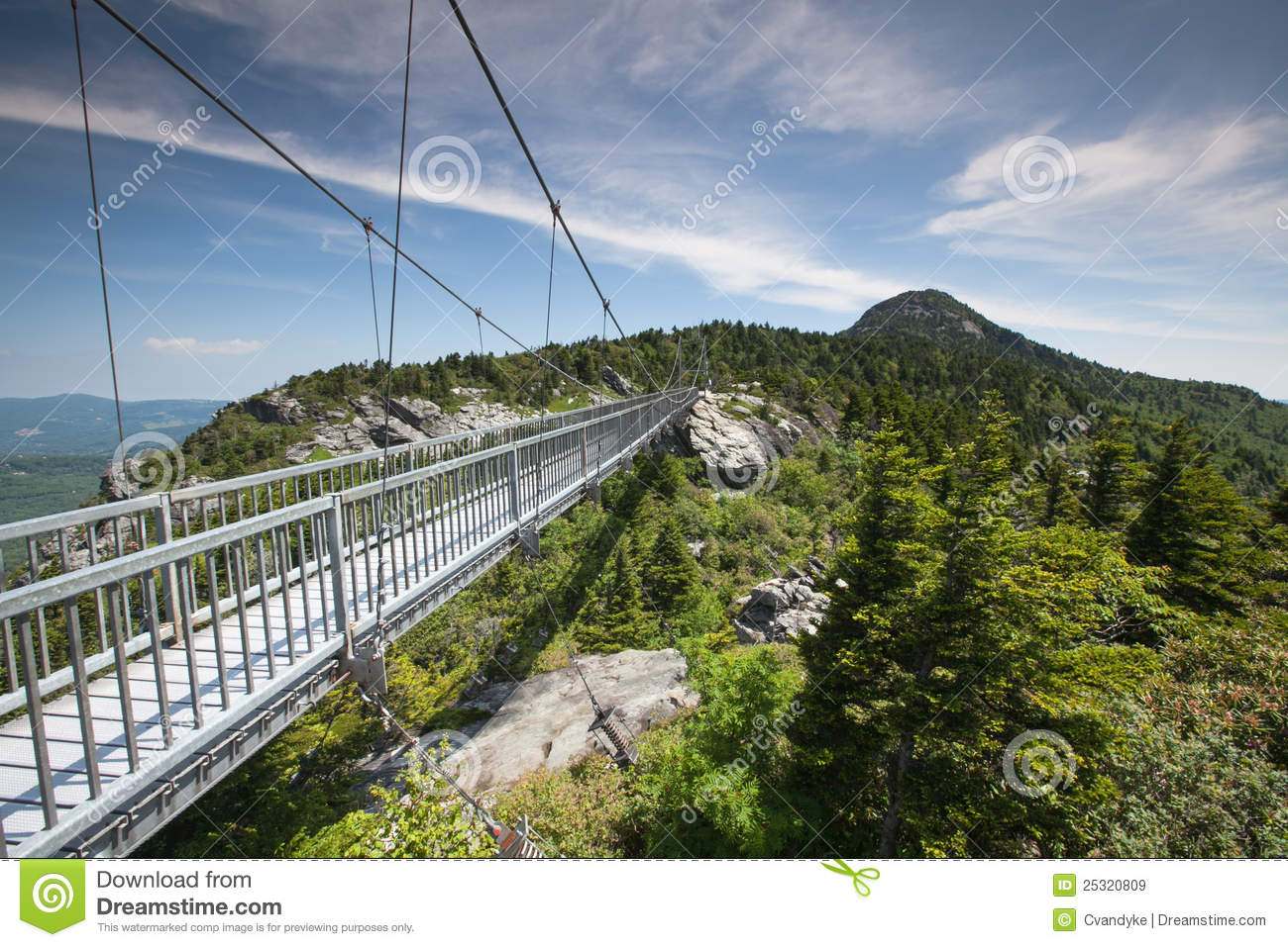 Mile High Swinging Bridge Linville Nc Stock Image Image Of