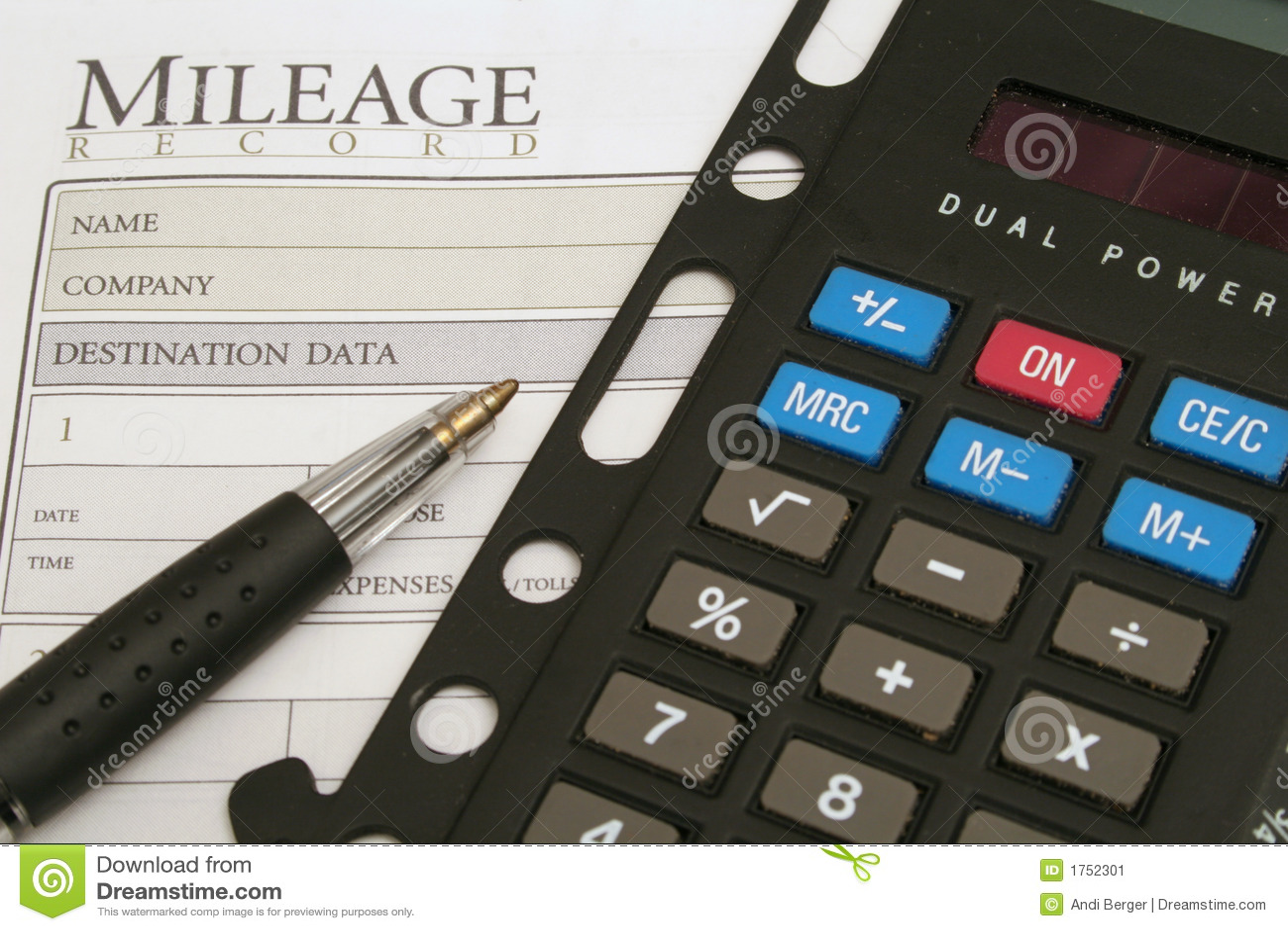 mileage log calculator stock image image of miles transportation