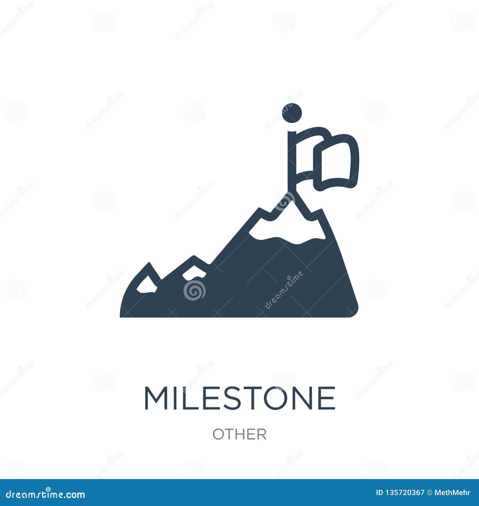 milestone icon in trendy design style. milestone icon isolated on white background. milestone vector icon simple and modern flat