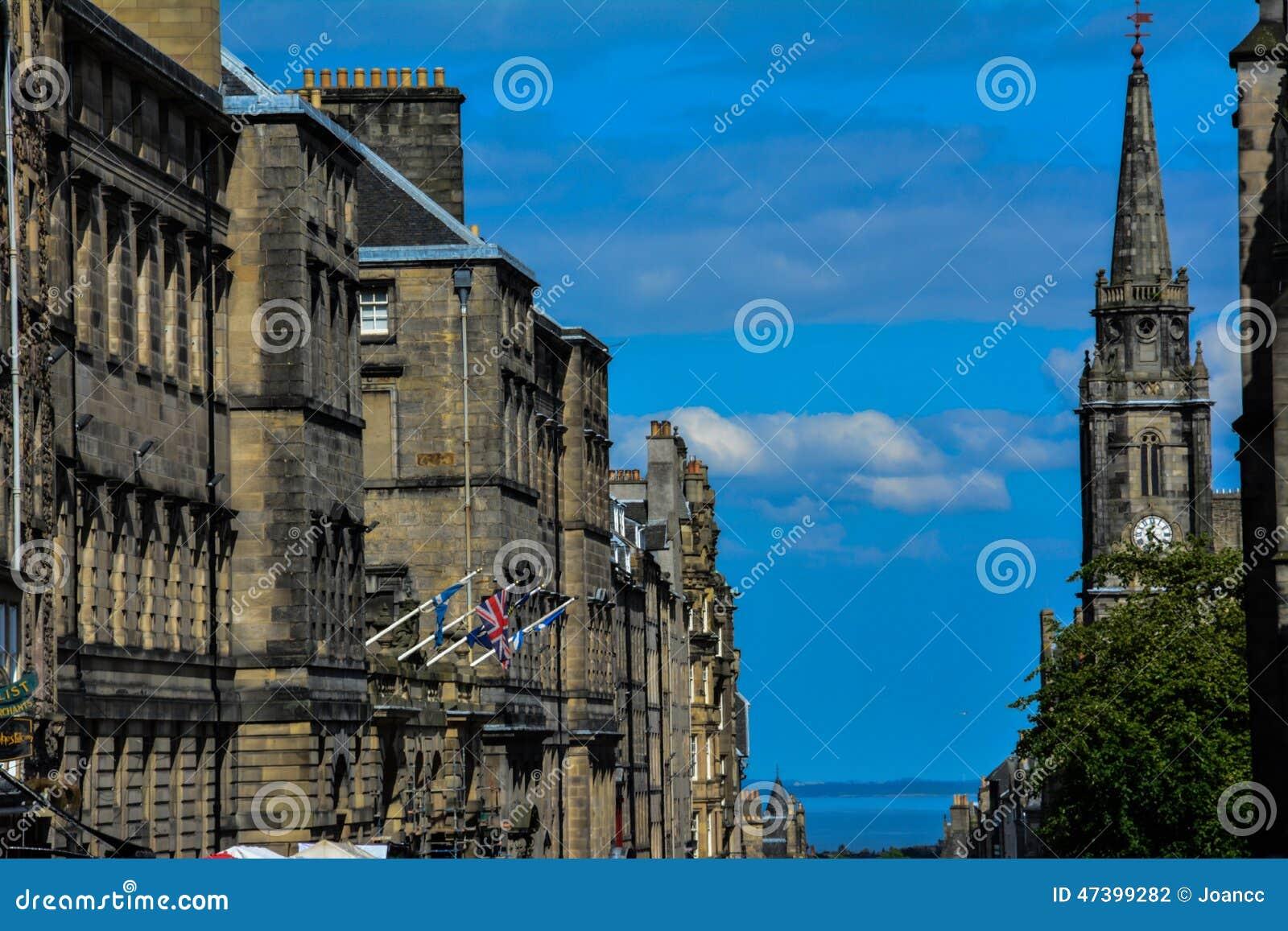 Milha real, Edimburgo, Escócia