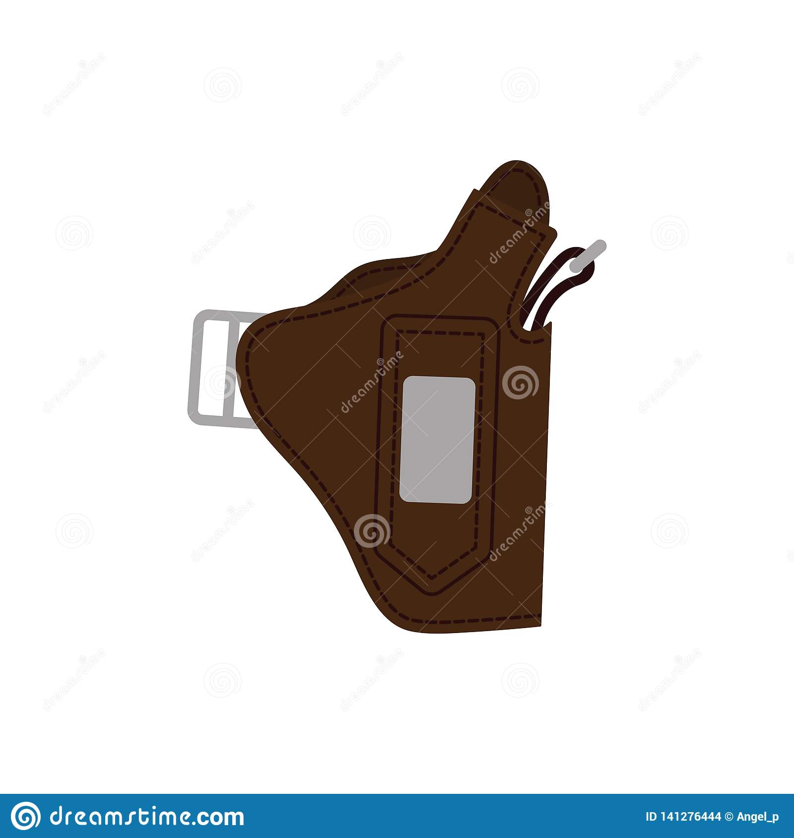 Milicyjna holster pistoletu ikona