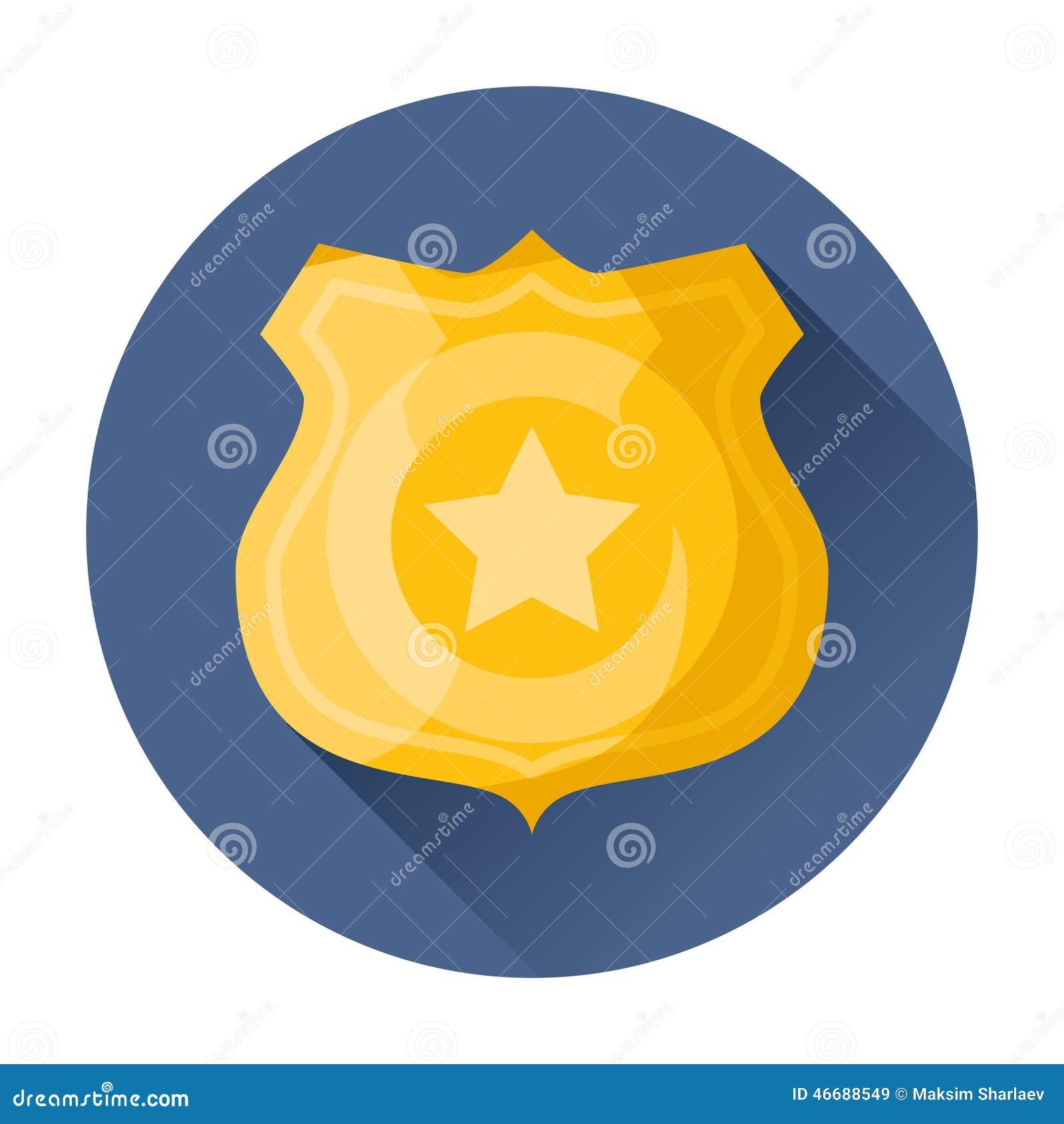 Milicyjna odznaki ikona