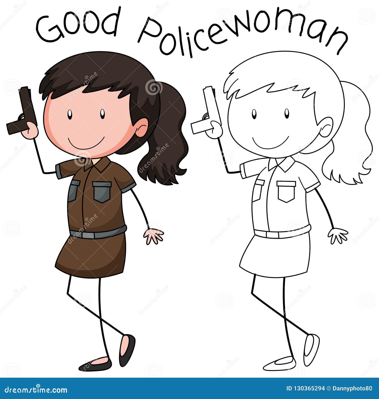 Milicyjny kobieta charakter