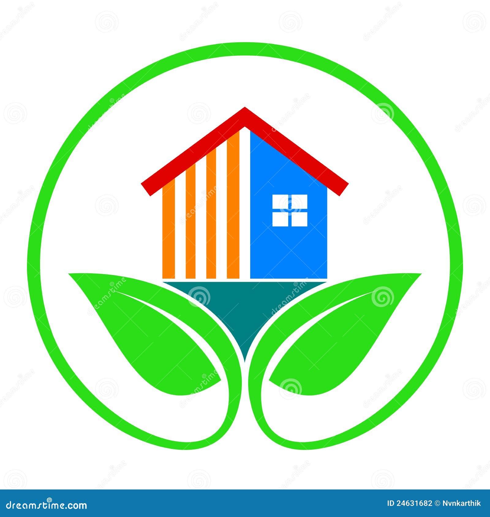 Milieuvriendelijk huis vector illustratie illustratie for Huis digitaal