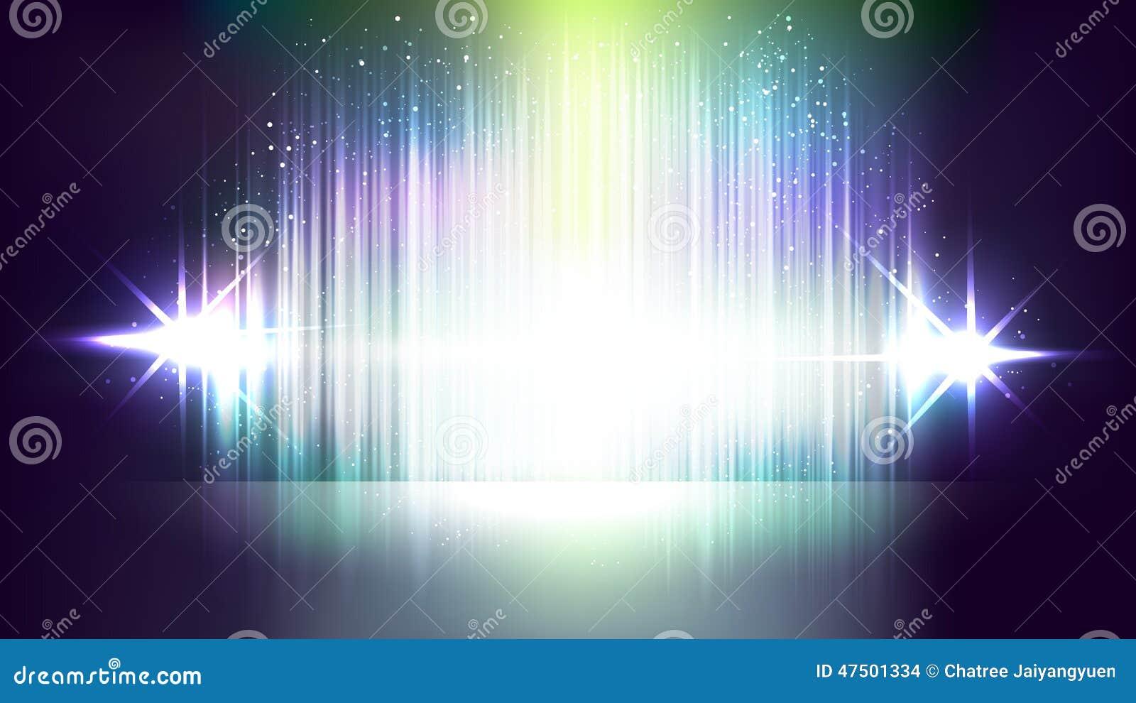 Milieux abstraits de vecteur de lumière clignotante