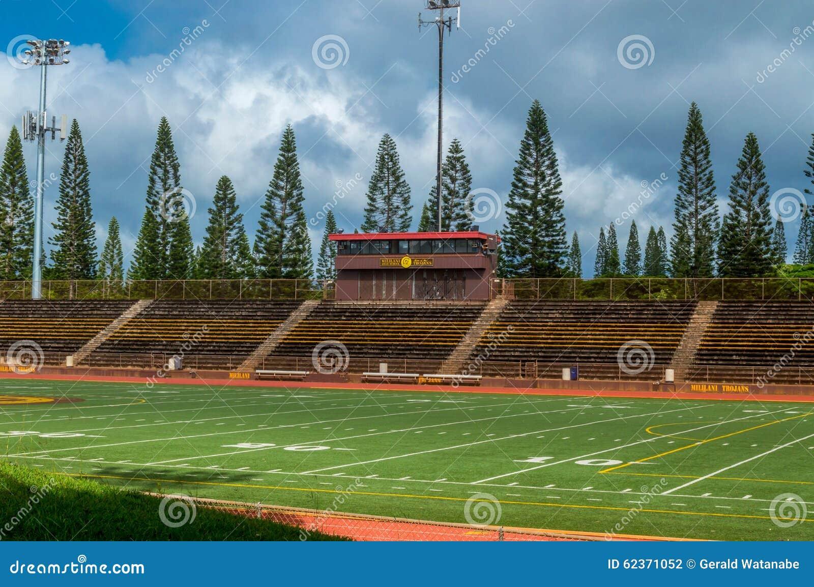 mililani high school stadium editorial photography