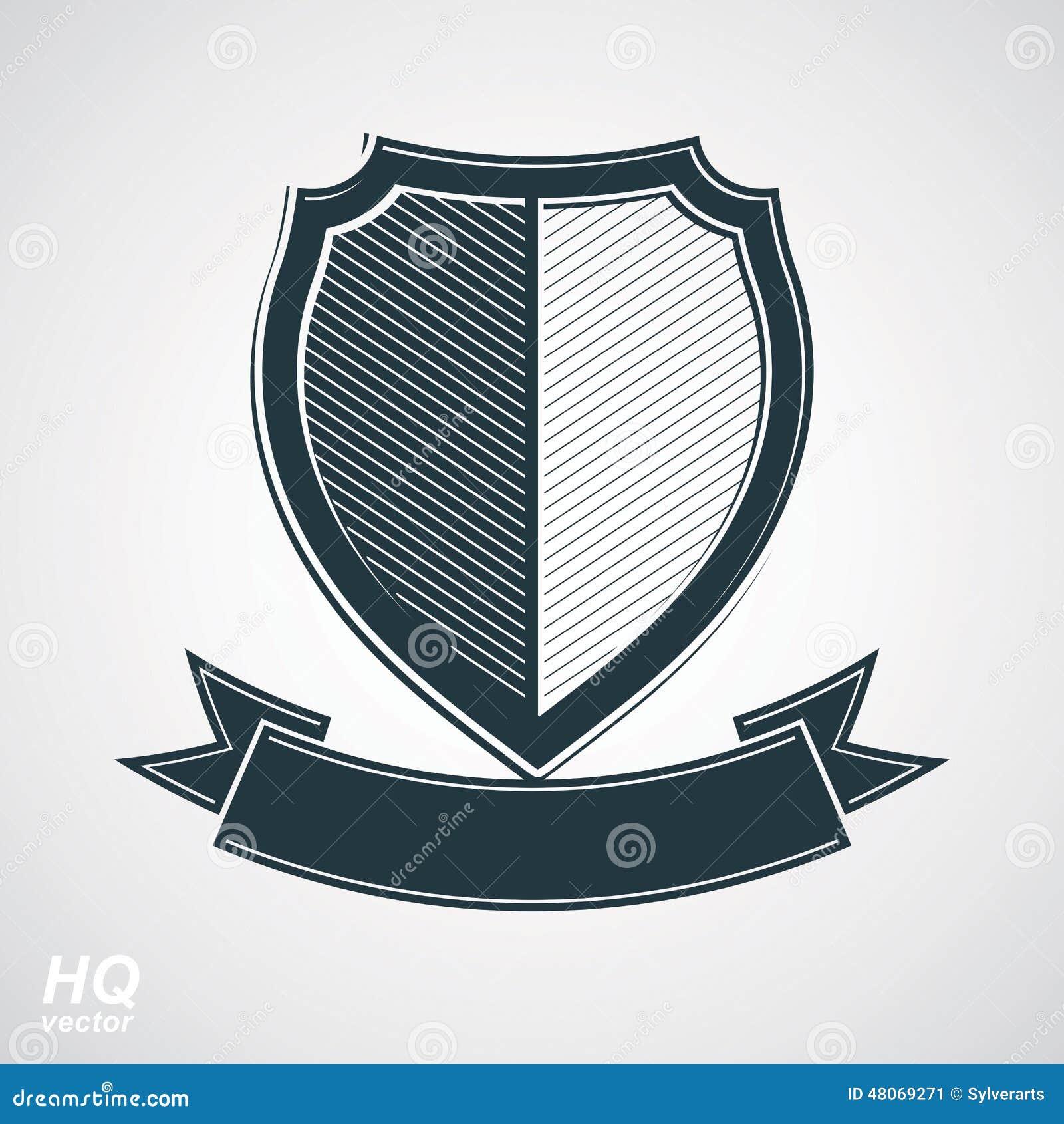 Militär spricht Ikone zu Vektor Grayscale-Verteidigungsschild mit curvy