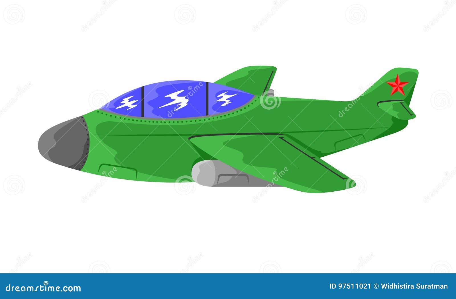 Militär stridsflygplan