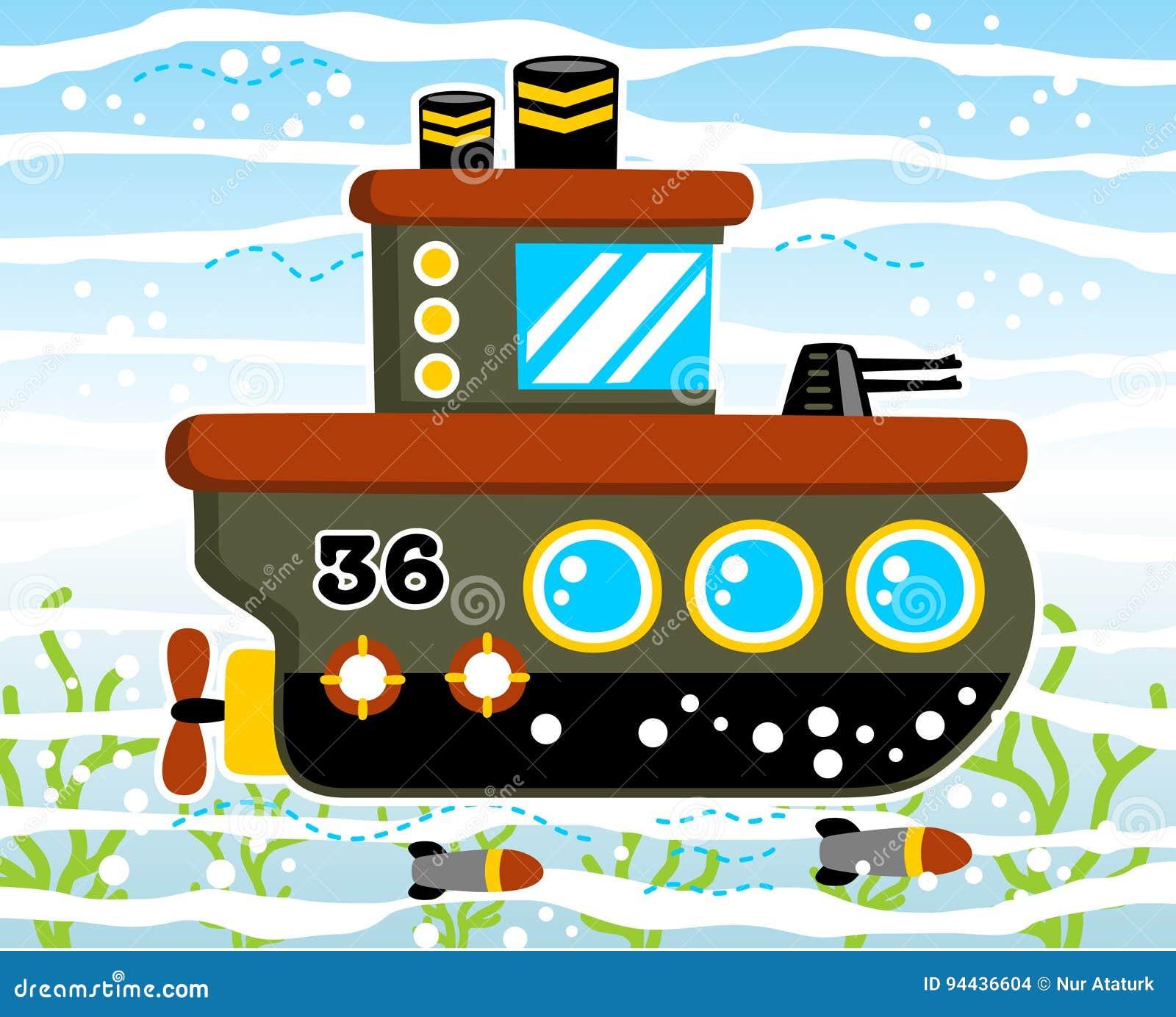 Militär ubåt