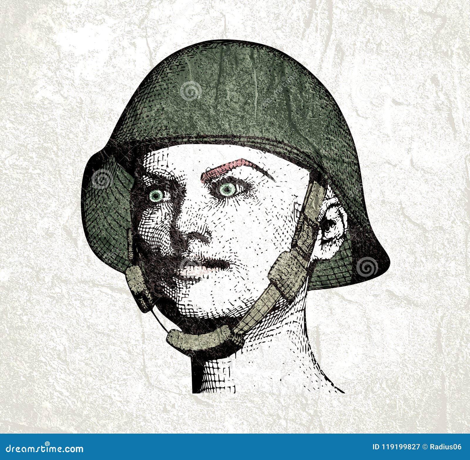 Militär uniform kvinna