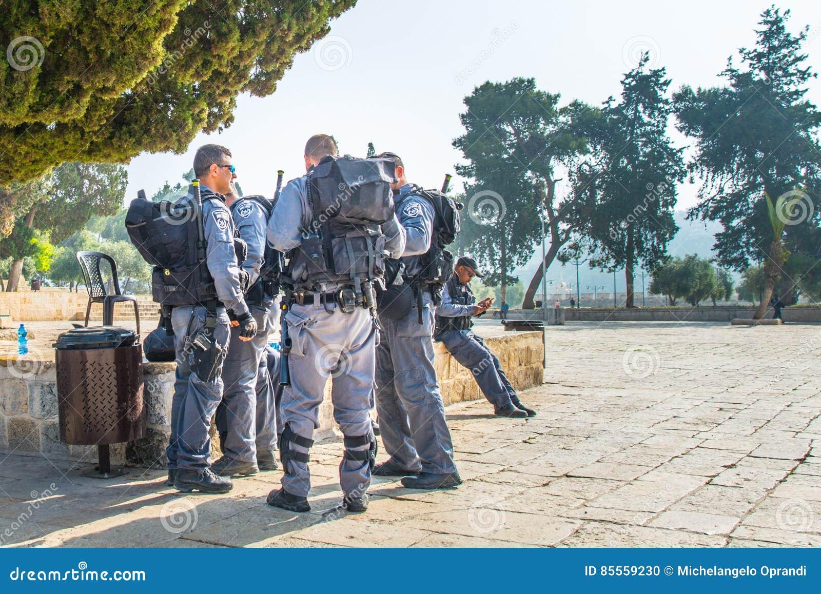Militärische israelische Armee in Jerusalem