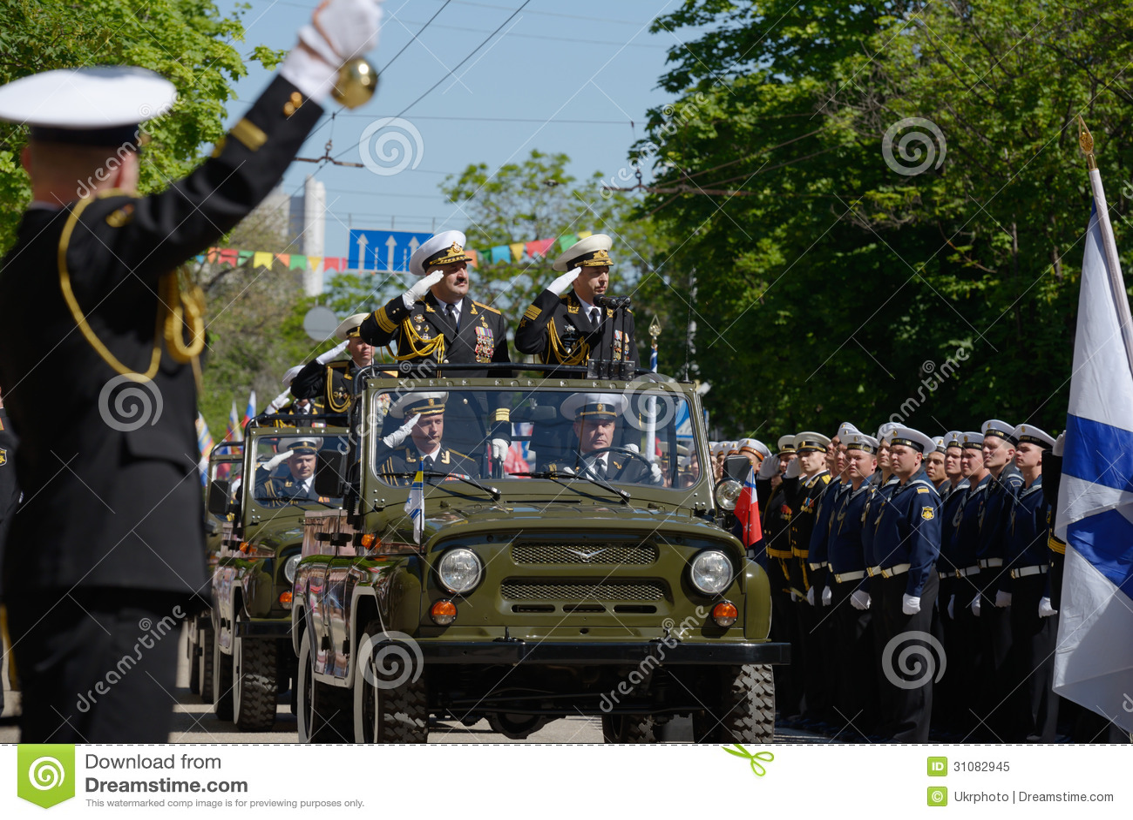 Militärparade in Sewastopol, Ukraine