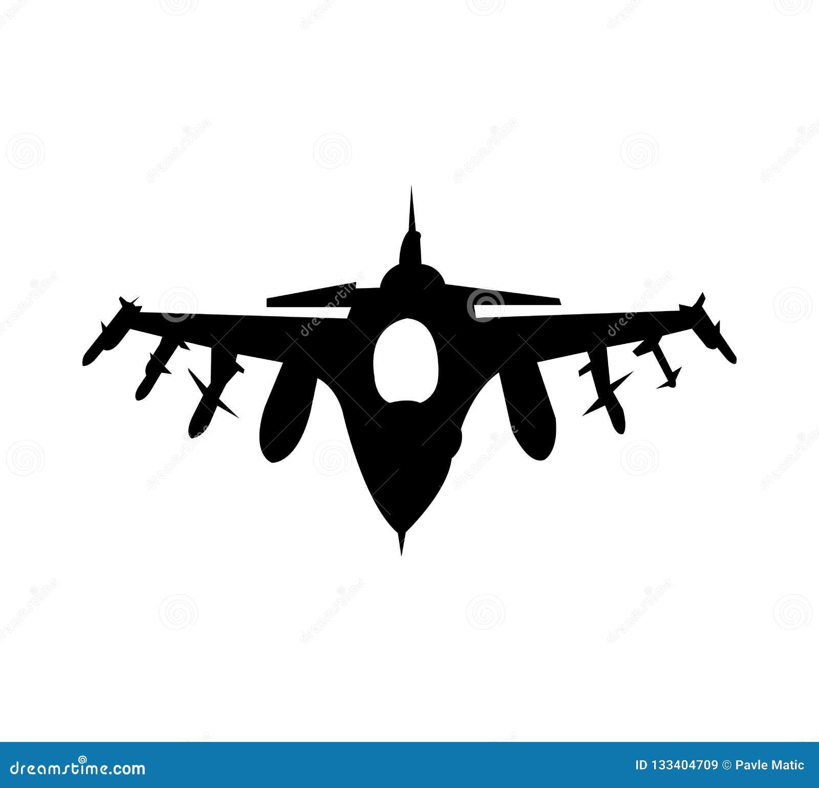 Militärt flygplan som isoleras på vit bakgrund