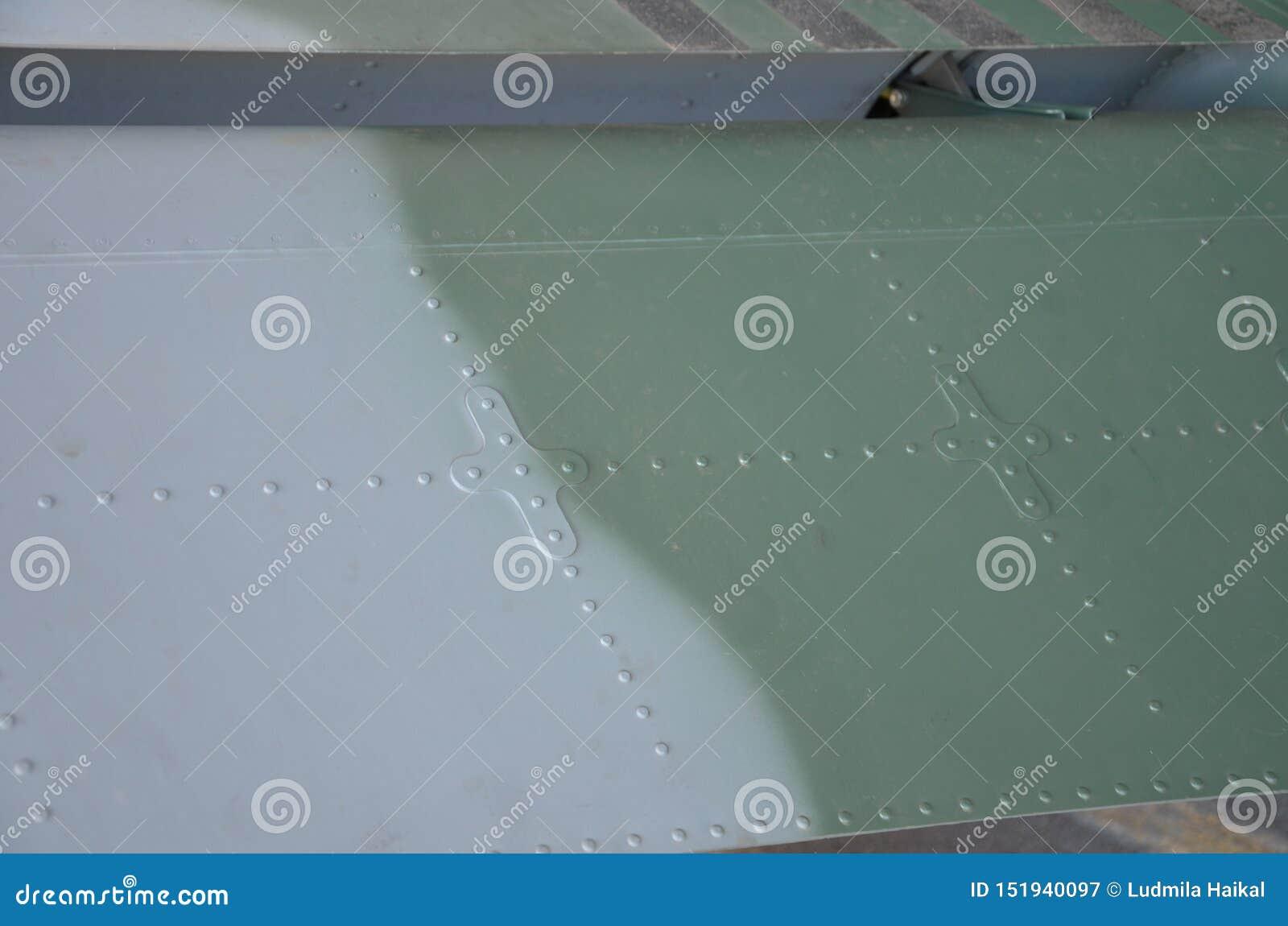 Militaire Helikoptercamouflage De camouflage van het militaire vliegtuigendetail Weergeven over fuselage met van de paneellijn en