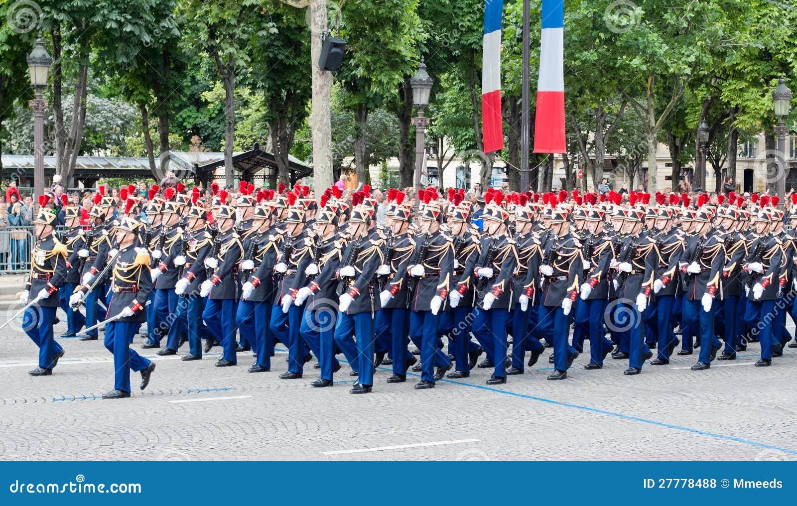 Militaire parade in de Dag van de Republiek (Dag Bastille)