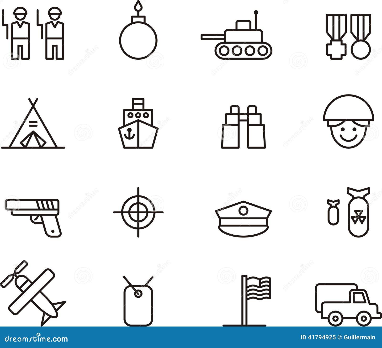 Militaire pictograminzameling
