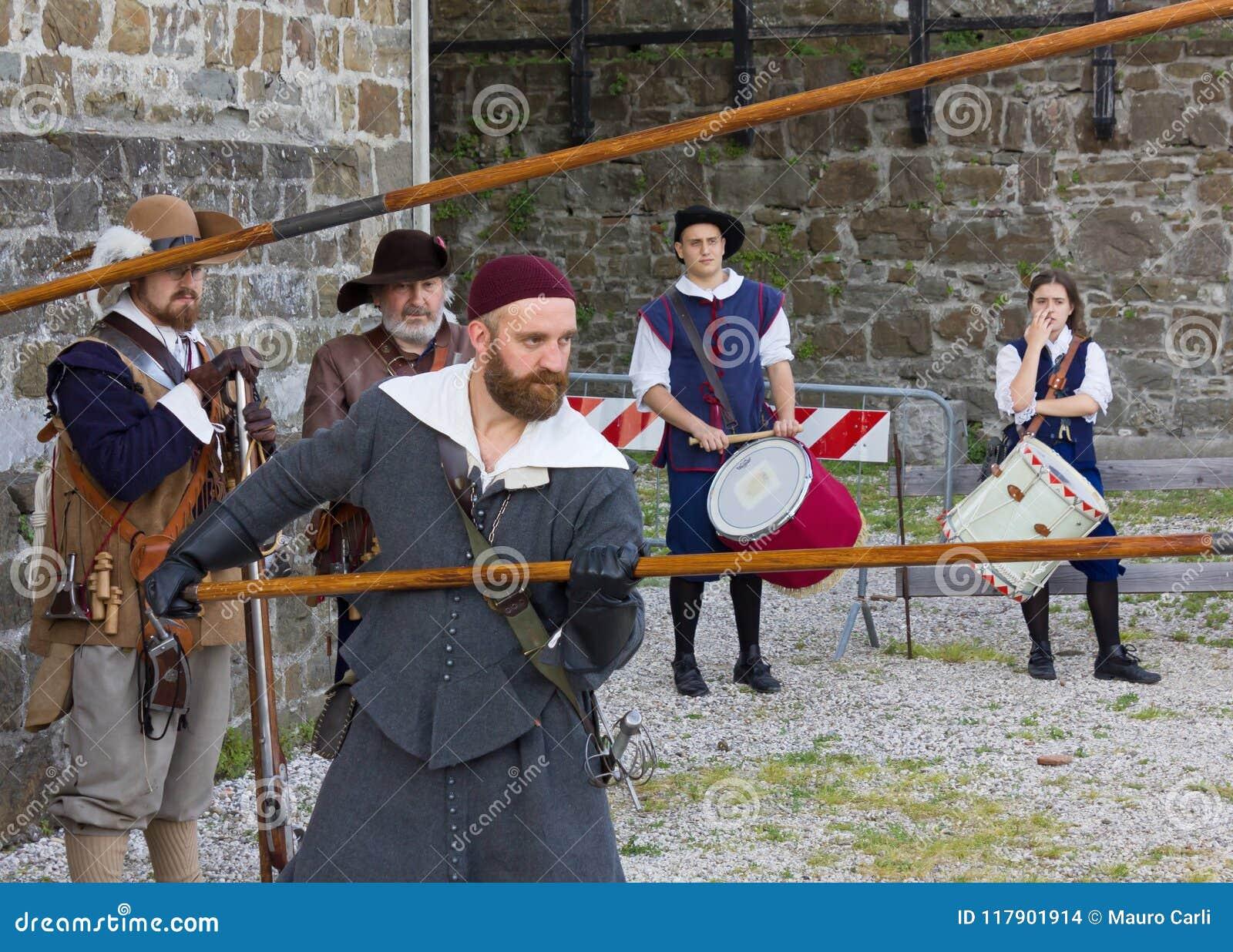 Militairen van het Venetiaanse Leger bij de Zeventiende Eeuw Histori