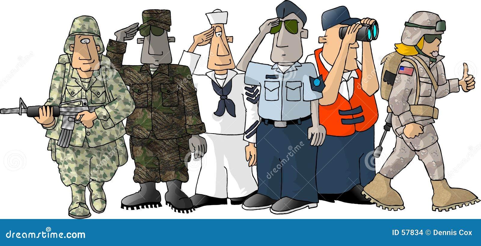Download Militaires des USA illustration stock. Illustration du marine - 57834