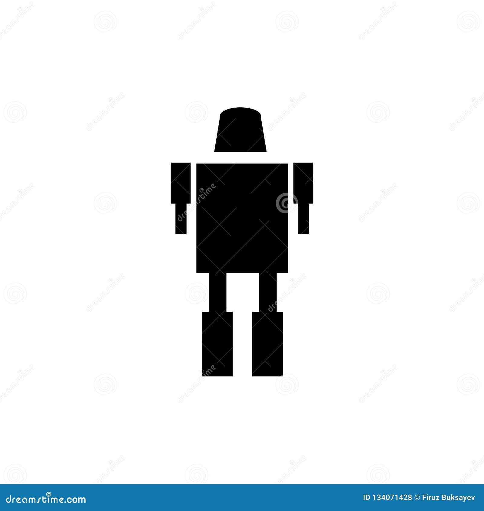 Militarnego robota ikony wektoru maszynowy znak i symbol odizolowywający na białym tle, Militarnego robota logo maszynowy pojęcie