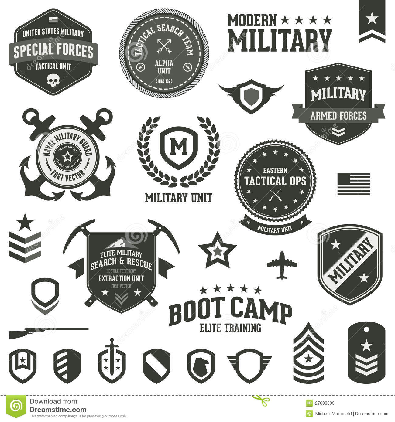 Military Badges Stock ... Navy Symbol Anchor