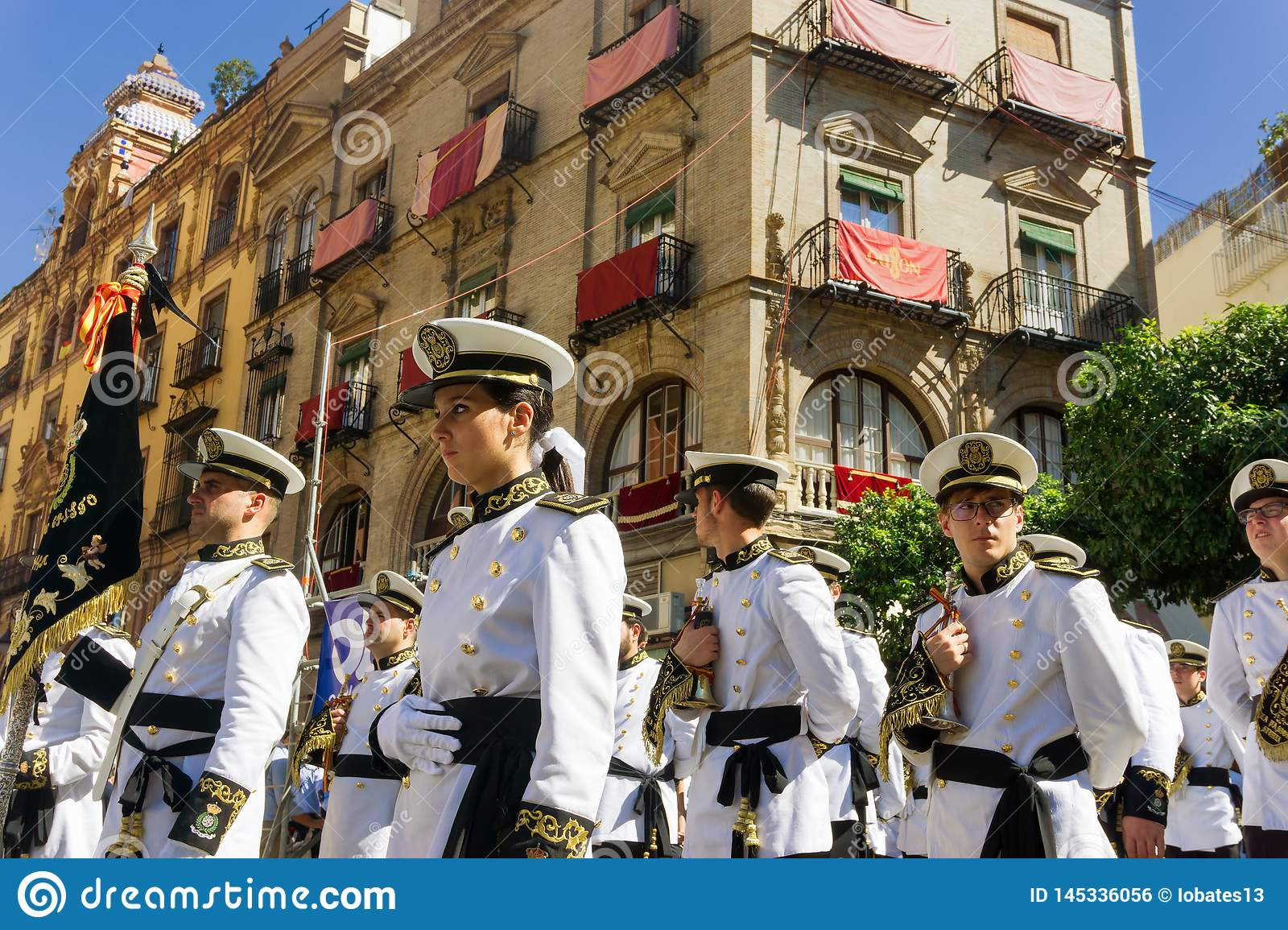 Military Band in Seville, Spain