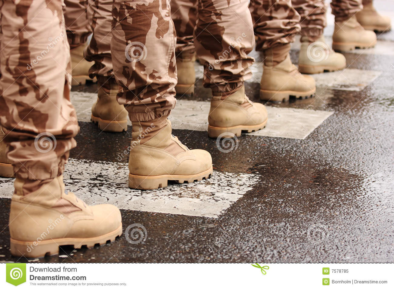 Military Boots Royalty Free Stock Photo Image 7578785