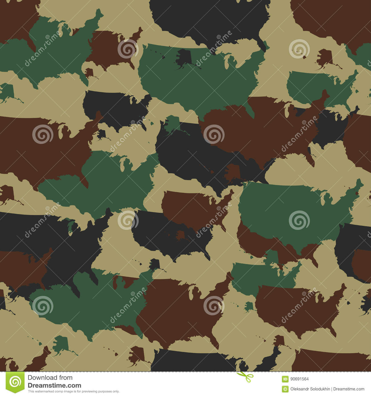 Military camouflage pattern seamless repeat camo in different military camouflage pattern seamless repeat camo in different colors vector military print with usa map army woodland toneelgroepblik Images