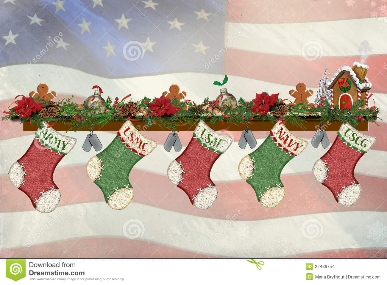 Military Christmas Stockings Stock Images - Image: 22436754