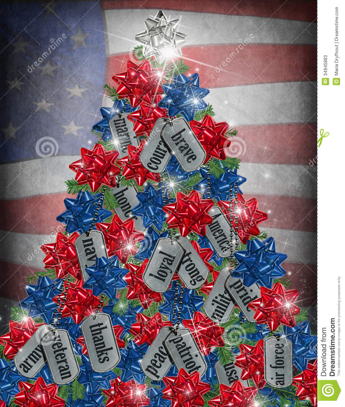Military Christmas tree stock illustration. Illustration ...
