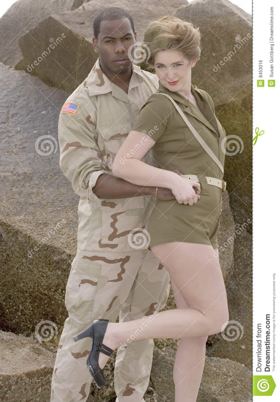 Military Couple Royalty Free Stock Image Image 8453016