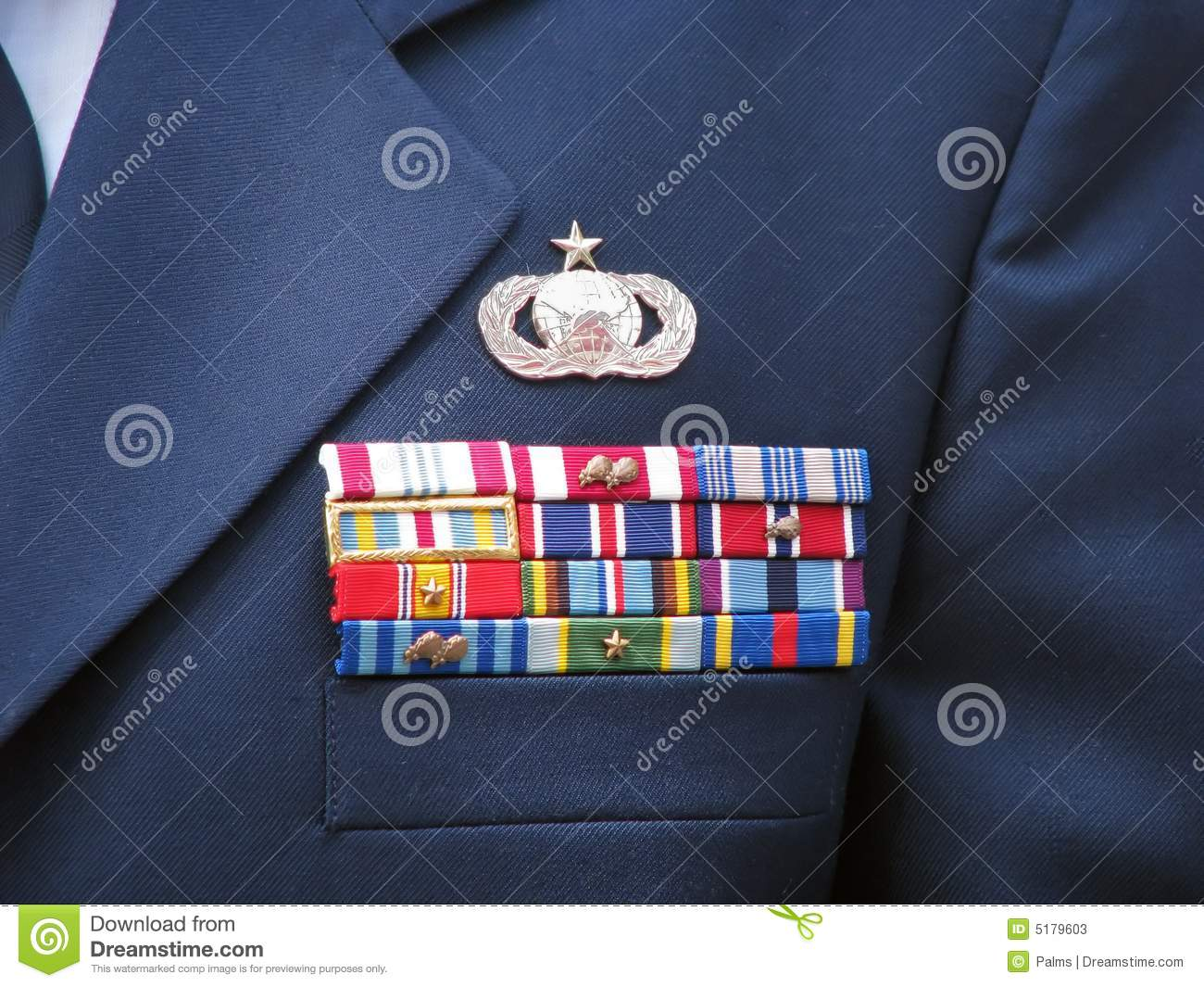 military decorations on uniform stock photos - Military Decorations
