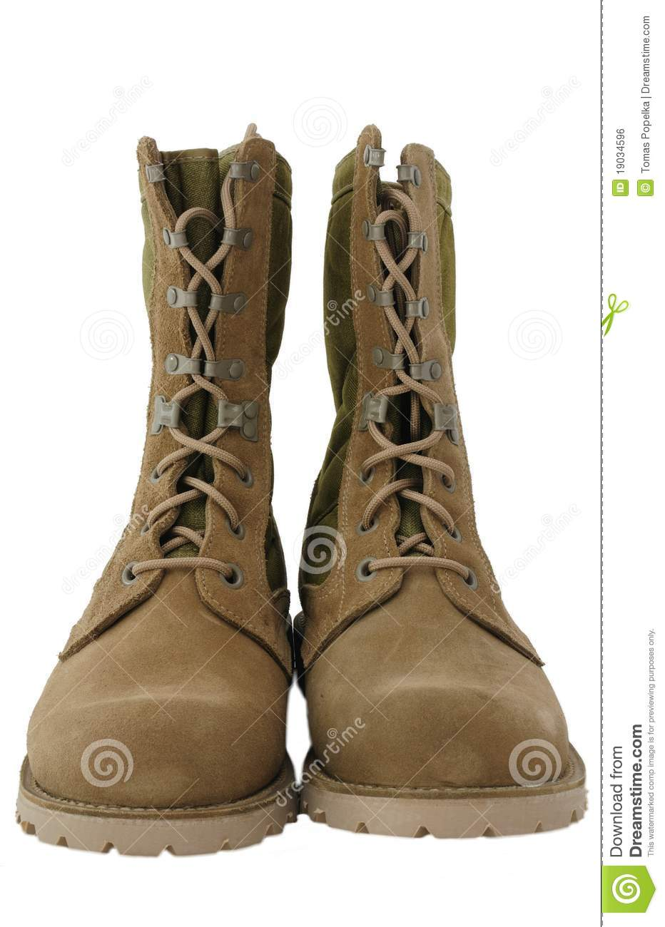Military Desert Combat Boots Royalty Free Stock Image - Image ...