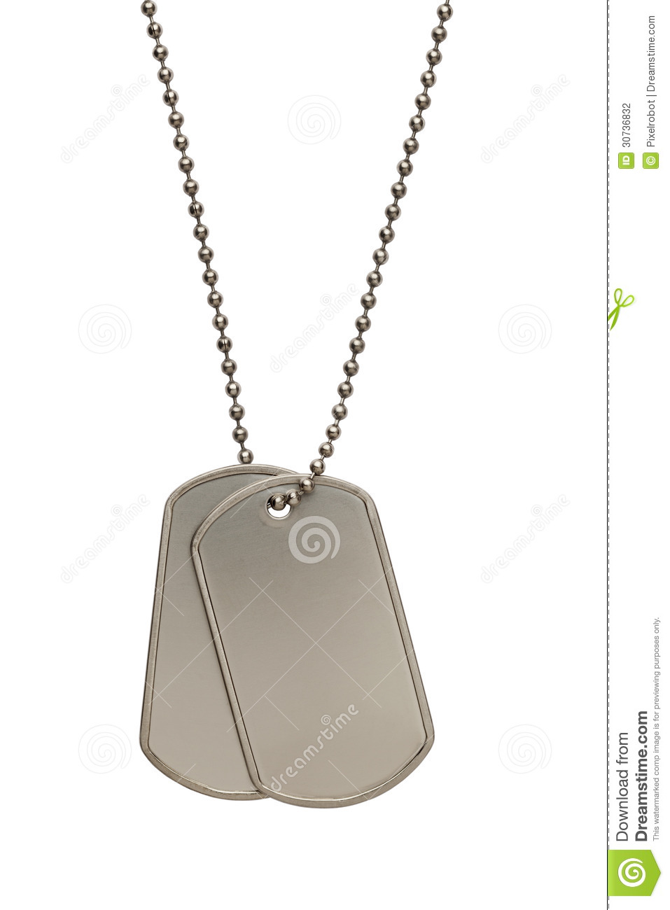 Military Dog Tags Stock Photography - Image: 30736832