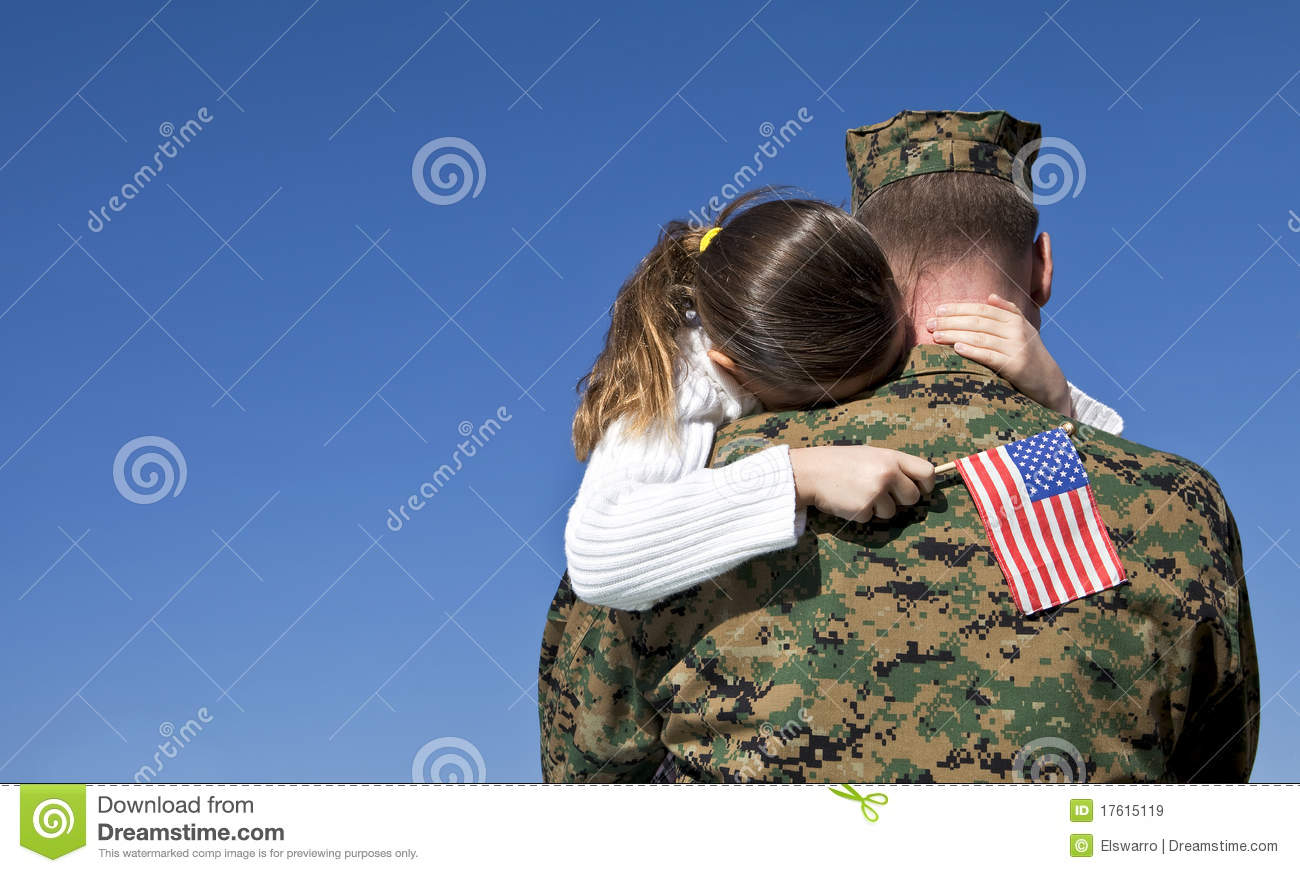 Military Father and Daughter Reunited
