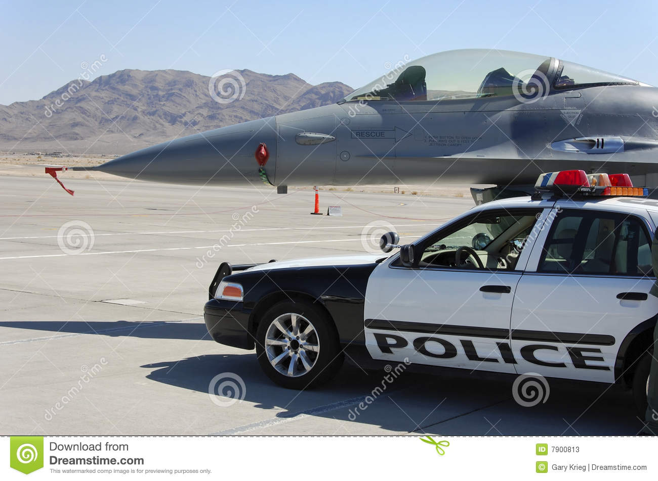 military fighter aircraft police car display stock photos image 7900813. Black Bedroom Furniture Sets. Home Design Ideas