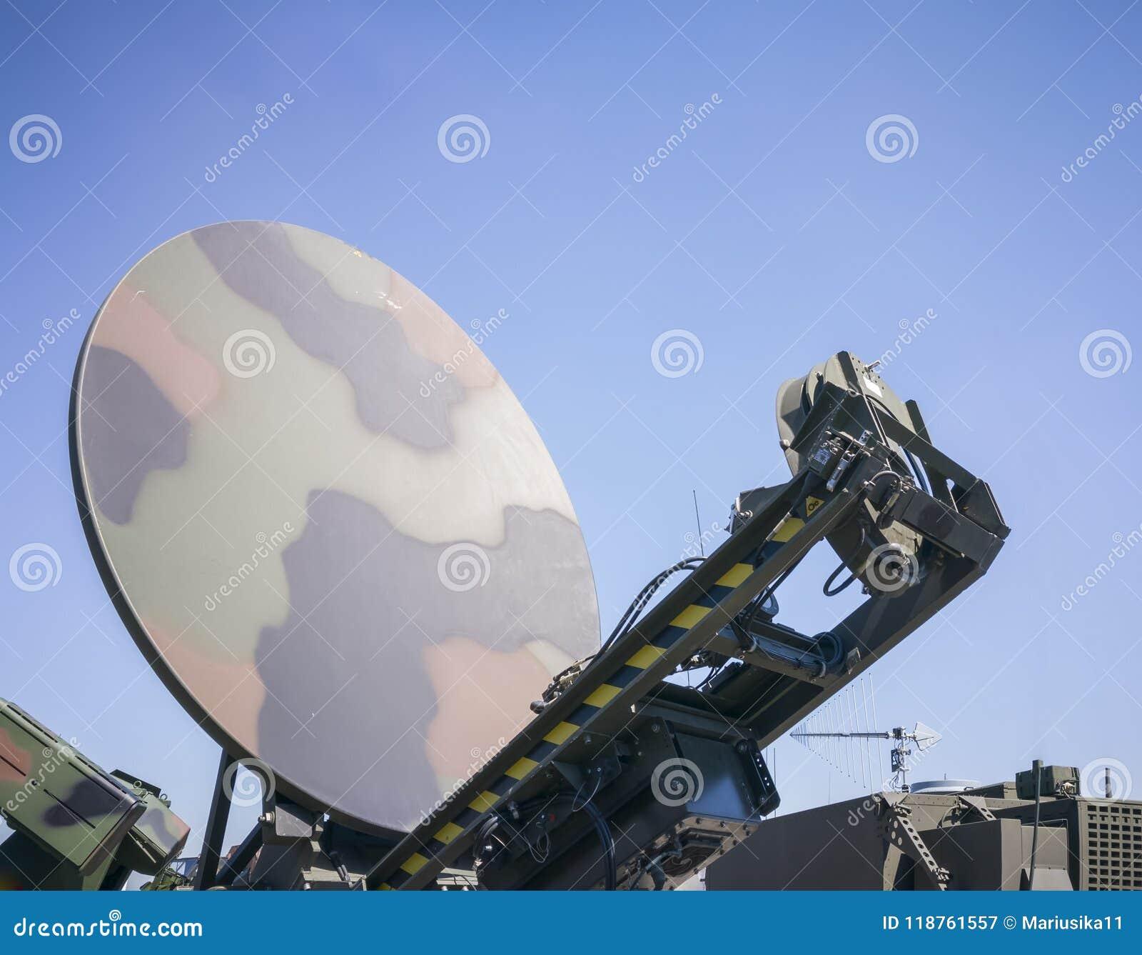 Military ground satellite antenna