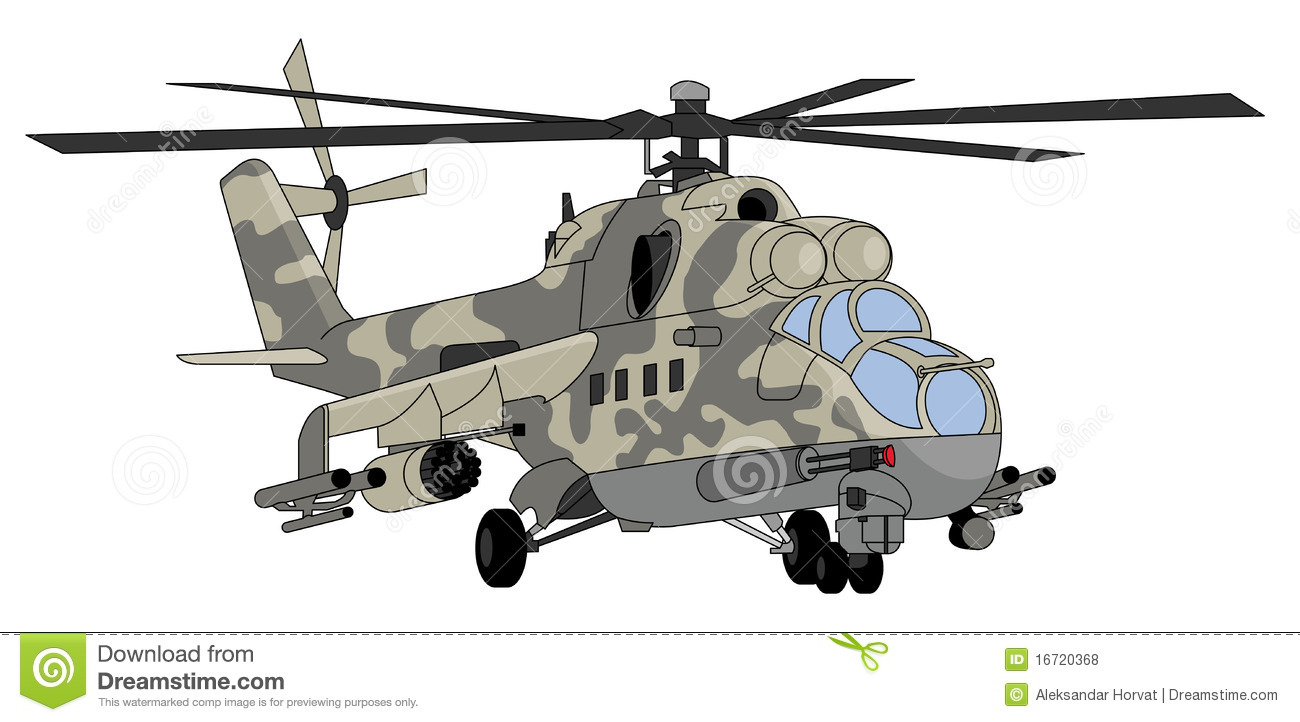 Military Helicopter Illustration Stock Vector ...