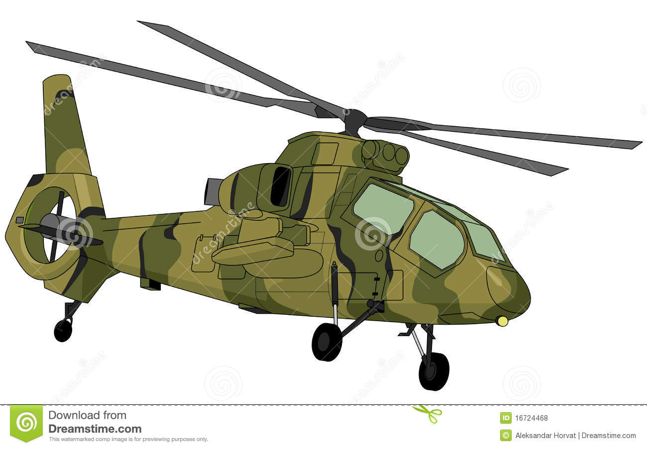 Floor Plan Creation Military Helicopter Illustration Royalty Free Stock Photos