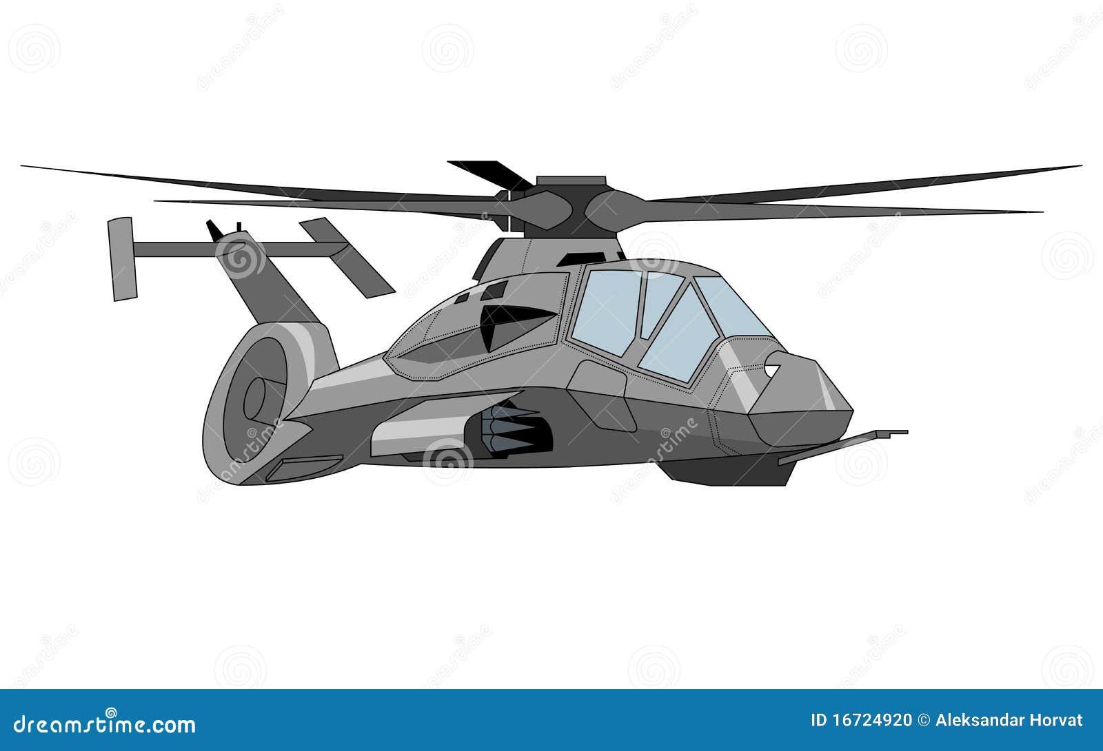 Military Helicopter Illustration Stock Photo - Image: 16724920